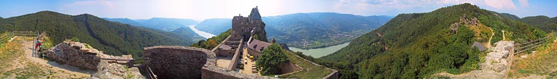 Ruine Aggstein - click to enlarge (413kB)